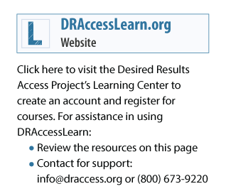 Sign up for an account on our Learning Center to access free professional development activities that support you in the use of the DRDP (2015)