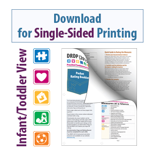 DRDP 2015 Pocket Rating Booklet Infant/Toddler View for Single-Sided Printing
