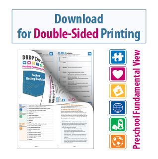 DRDP 2015 Pocket Rating Booklet Preschool Fundamental View for Double-Sided Printing