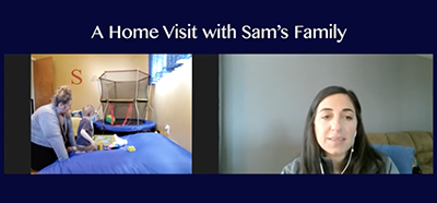 screenshot of video A Home Visit with Sam's Family