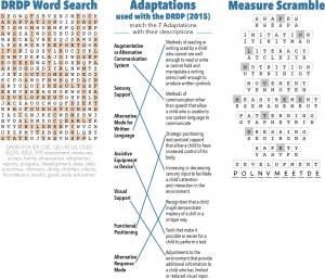 Placemat puzzle answers, read text below for accessibility.